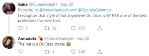 Professor Cissé tweets
