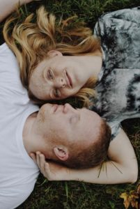 couple with downs engagement photos