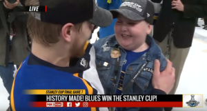 laila and st. louis blues player