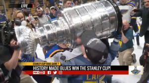 laila kisses stanley cup