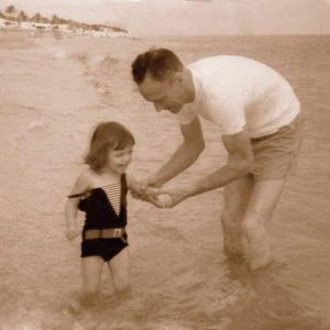 howard and sandra at the beach