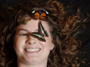 katie and butterflies