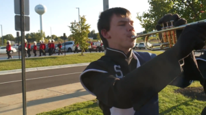 aaron in marching band