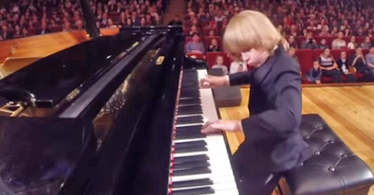 8 Yr Old Piano Prodigy Stuns Audience With Dazzling Performance Inspiremore
