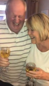 dad and mom laugh