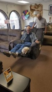grandpa and coco furniture shopping