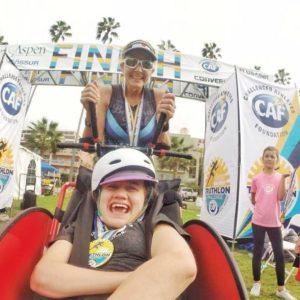 beth and liza finish triathlon