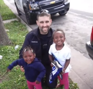 officer Zimmerman and kids
