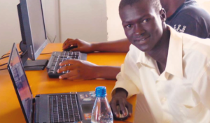 lual with laptop