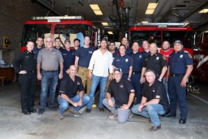 Matthew McConaughey and firefighters