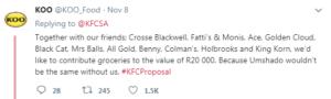kfc proposal tweet