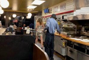 waffle house customers help employee