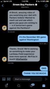 messages from green bay packers