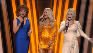 reba mcentire, carrie underwood, dolly parton