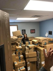packages fill principal's office