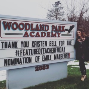 woodland park academy sign