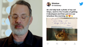tom hanks reads nice tweets