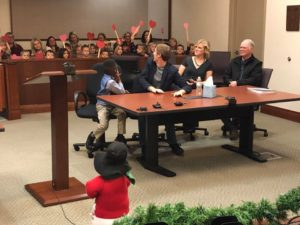 michael's adoption hearing