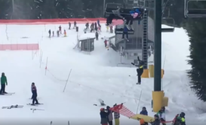 boy falls from chairlift
