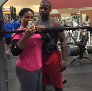 brandee and branden at gym