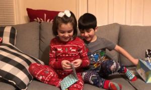 juliana opens gift