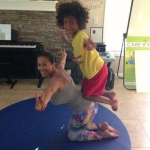 mother son yoga