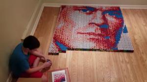 rubik's cubes mosaic