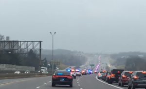 procession for officer o'connor