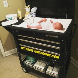 tool cart diaper changing station
