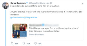 target tori tweet