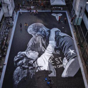 kobe gianna mural