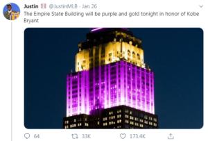 kobe tribute tweet
