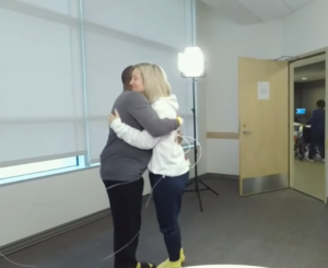 kidney donor hug