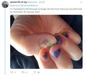 kids nail polish tweet