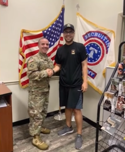 christian joins army