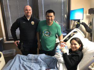 officer dean visits parents