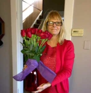 tracey with flowers