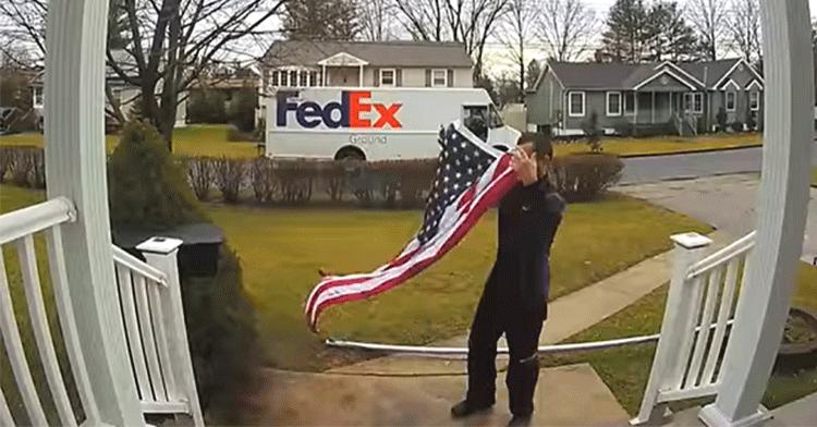 fedex driver flag