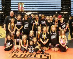 alpha girls wrestling team