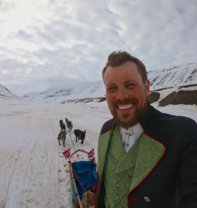 audun with sled dogs