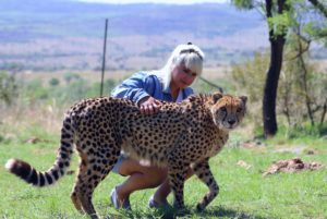 sonia with cheetah