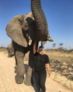 sonia with elephant