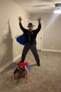 Lt. Kroenke and Miela dance
