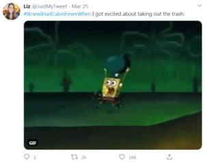 cabin fever tweet