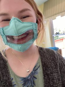 ashley's mask for deaf community