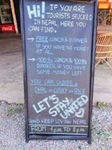 nepal restaurant sign