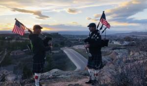 sunset solidarity bagpipes