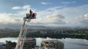 firefighter plays trumpet brazil