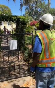 utility worker sings