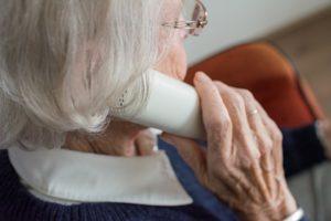 elderly woman phone call